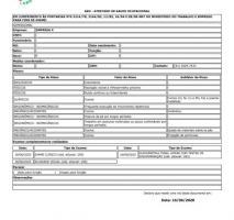 Exame aso admissional